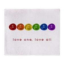 Pride Love Rocks Throw Blanket