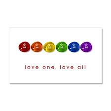 Pride Love Rocks Car Magnet 20 x 12