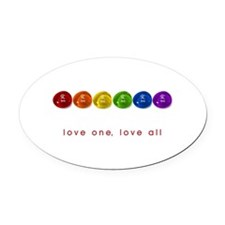 Pride Love Rocks Oval Car Magnet