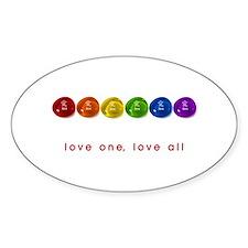 Pride Love Rocks Decal