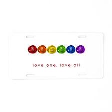 Pride Love Rocks Aluminum License Plate