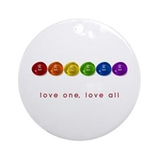 Pride Love Rocks Ornament (Round)