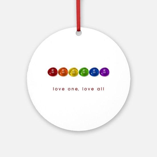 Pride Love Rocks Ornament (Round)