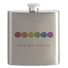 Pride Love Rocks Flask