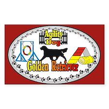 Golden Retriever Agility Oval Bumper Stickers