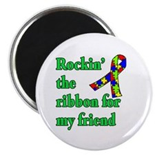 Autism Ribbon for My Friend Magnet