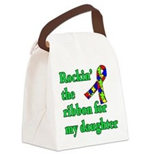 Autism Ribbon for My Daughter Canvas Lunch Bag
