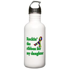 Autism Ribbon for My Daughter Water Bottle