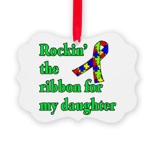 Autism Ribbon for My Daughter Ornament