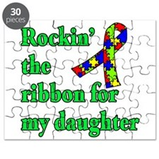 Autism Ribbon for My Daughter Puzzle