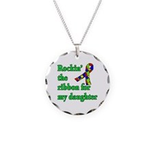 Autism Ribbon for My Daughter Necklace
