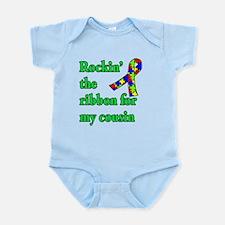 Autism Ribbon for My Cousin Infant Bodysuit