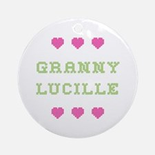Granny Lucille Round Ornament