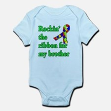 Autism Ribbon for My Brother Infant Bodysuit