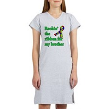 Autism Ribbon for My Brother Women's Nightshirt