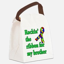 Autism Ribbon for My Brother Canvas Lunch Bag