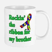 Autism Ribbon for My Brother Mug