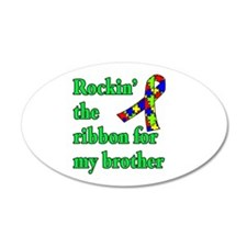 Autism Ribbon for My Brother Wall Decal