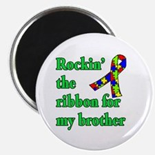 "Autism Ribbon for My Brother 2.25"" Magnet (100 pac"
