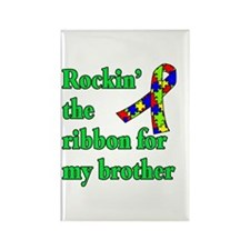 Autism Ribbon for My Brother Rectangle Magnet