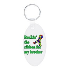 Autism Ribbon for My Brother Keychains
