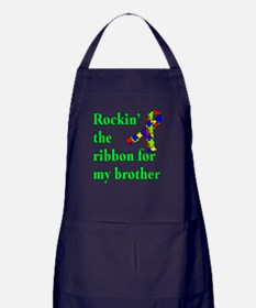 Autism Ribbon for My Brother Apron (dark)
