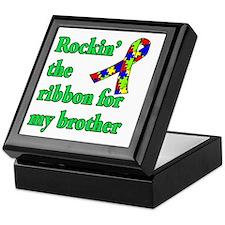 Autism Ribbon for My Brother Keepsake Box