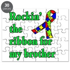 Autism Ribbon for My Brother Puzzle