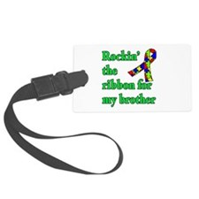 Autism Ribbon for My Brother Luggage Tag