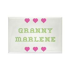 Granny Marlene Rectangle Magnet