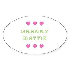 Granny Mattie Oval Decal