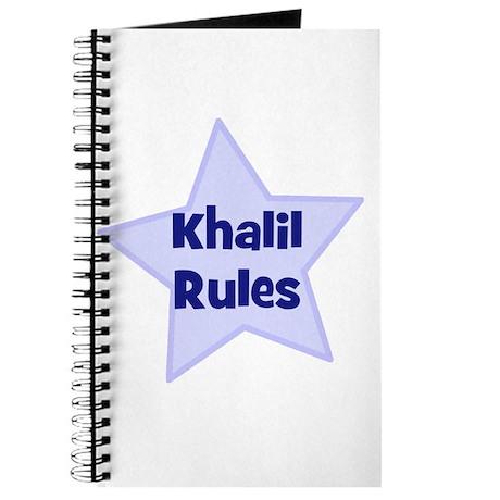 Khalil Rules Journal