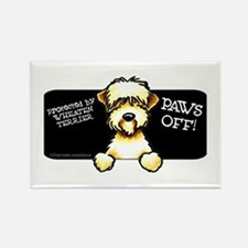SC Wheaten Terrier Paws Off Rectangle Magnet