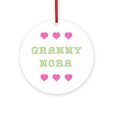 Granny Nora Round Ornament