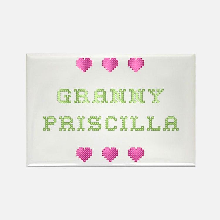 Granny Priscilla Rectangle Magnet