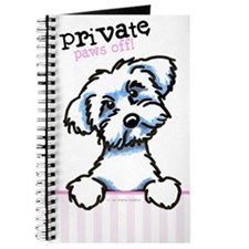 Maltese Lover Paws Off Diary Journal