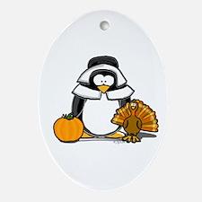 Pilgrim Girl Penguin Oval Ornament