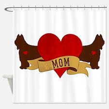 Briard Mom Shower Curtain