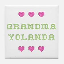 Grandma Yolanda Tile Coaster