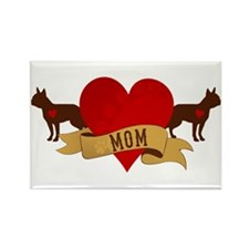Boston Terrier Mom Rectangle Magnet