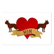 Boston Terrier Mom Postcards (Package of 8)