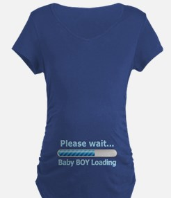 Baby BOY Loading! Maternity T-Shirt