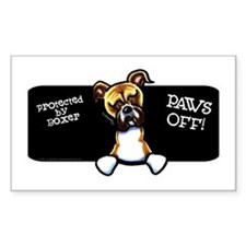 Boxer Nat Ear Paws Off Decal