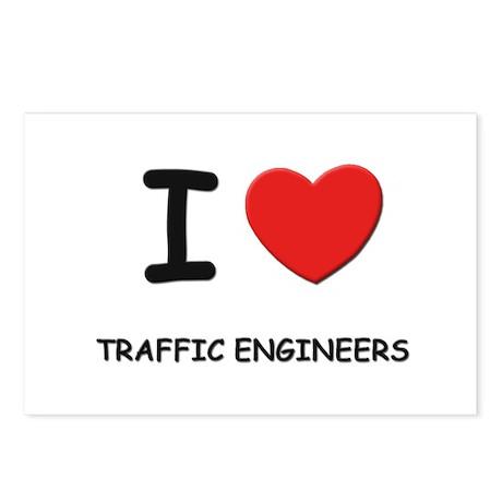 I Love traffic engineers Postcards (Package of 8)