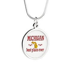Michigan Best Silver Round Necklace
