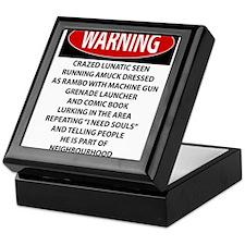 Lunatic Warning Keepsake Box