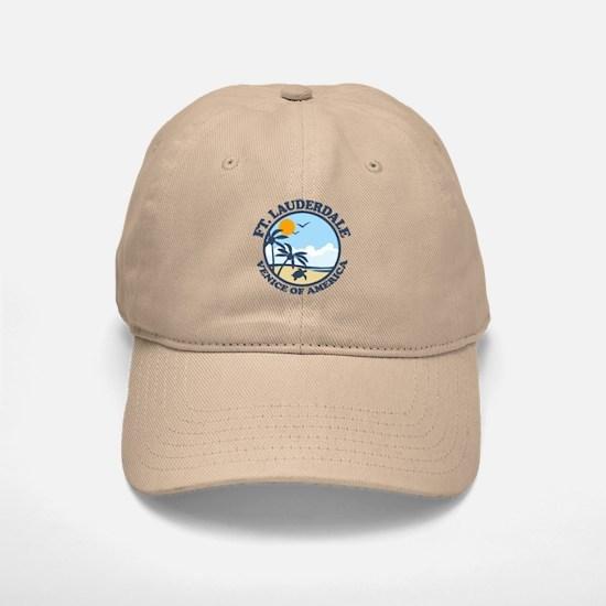 Fort Lauderdale - Beach Design. Baseball Baseball Cap