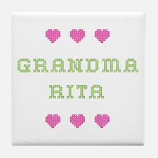 Grandma Rita Tile Coaster