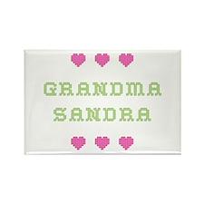 Grandma Sandra Rectangle Magnet