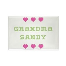 Grandma Sandy Rectangle Magnet
